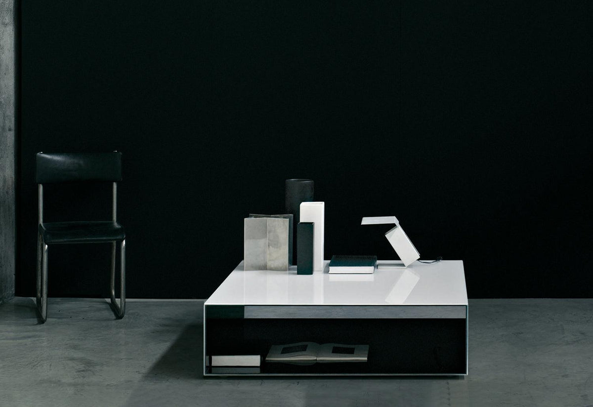 Sio2 Tunnel coffee table, Lissoni krusin and tamborini, Glas italia