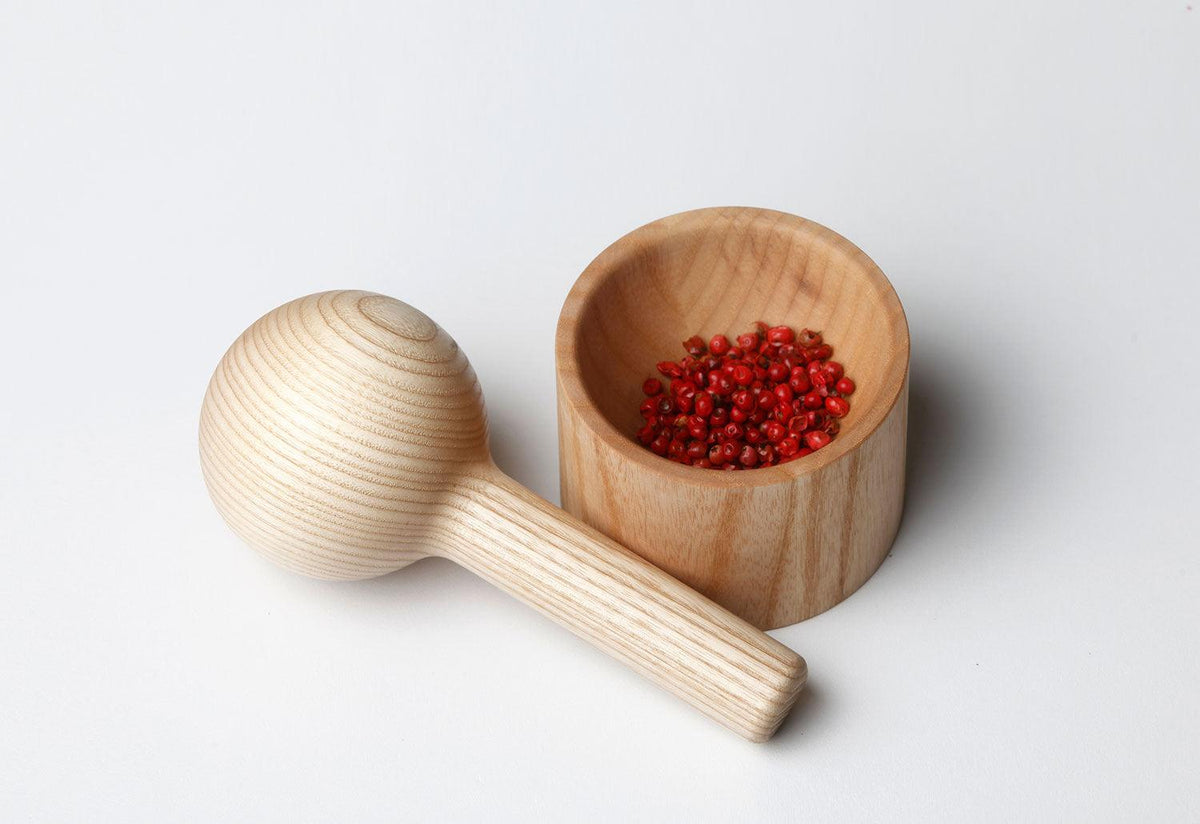Pino mortar and pestle, 2016, Athanasios babalis, Shibui