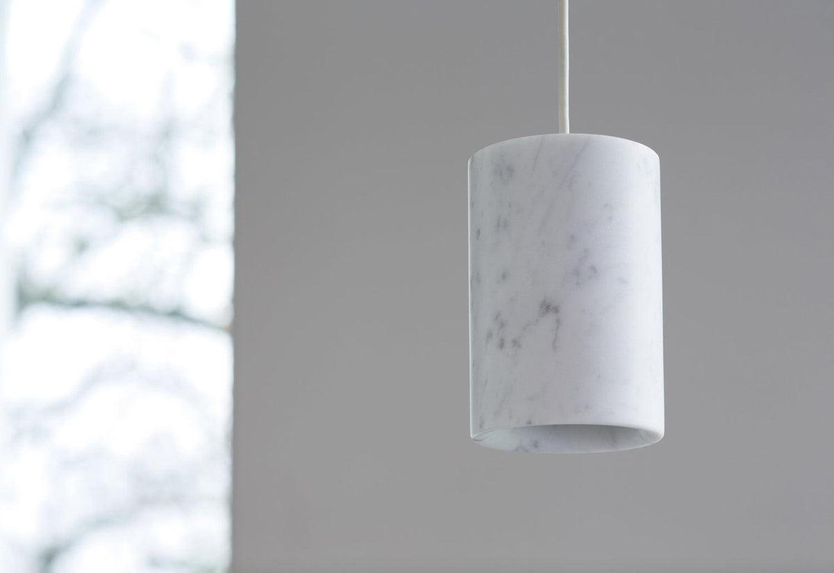 Solid Cylinder marble pendant, Terence woodgate, Case