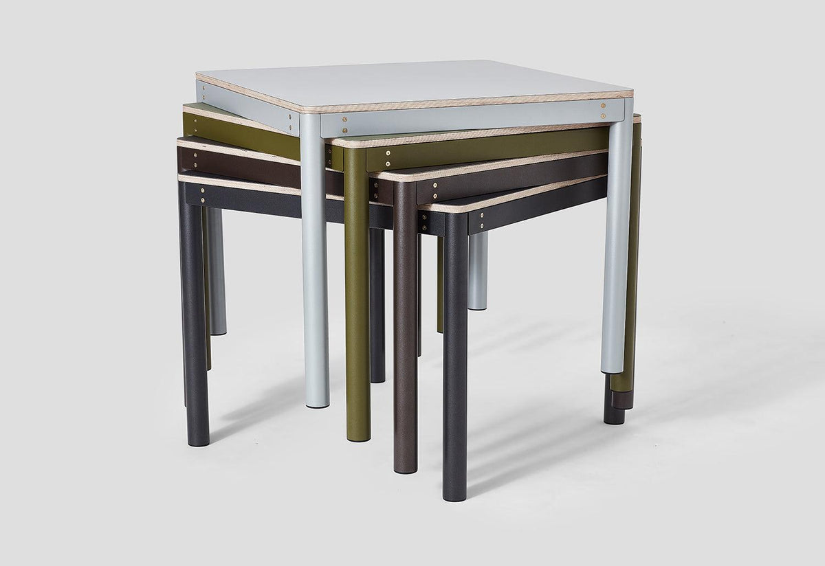 Metal Dowel table, Klauser and carpenter, Very good and proper