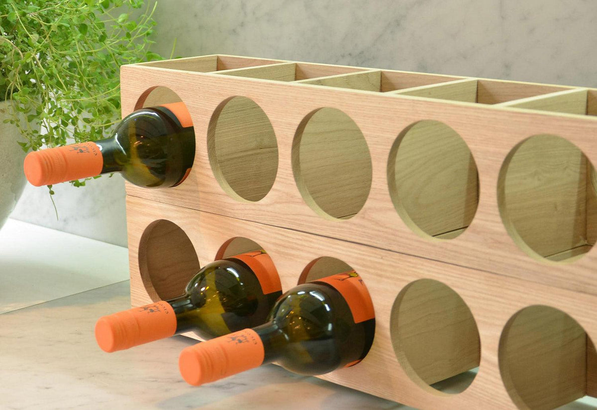 Wine-o bottle rack, Lincoln rivers, Wireworks