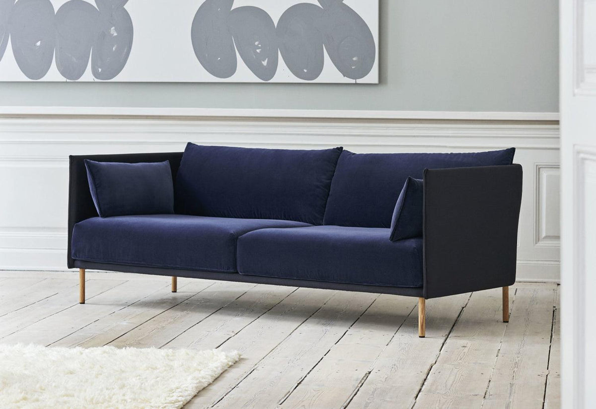 Silhouette three-seat sofa, 2018, Gamfratesi, Hay