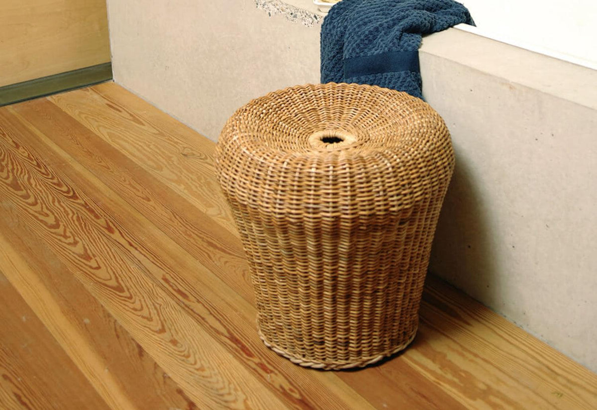 Rattan Stool E14, 1957, Egon eiermann, Richard lampert