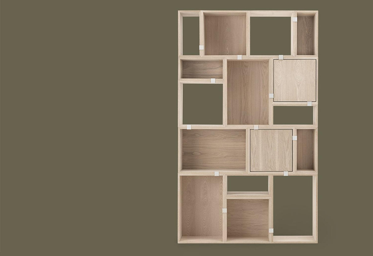 Stacked shelving with door, Jds architects, Muuto
