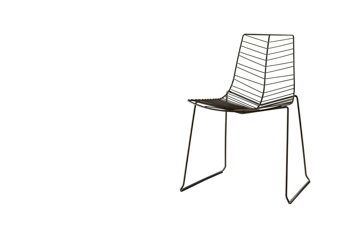 Leaf outdoor stacking chair, Lievore altherr molina, Arper