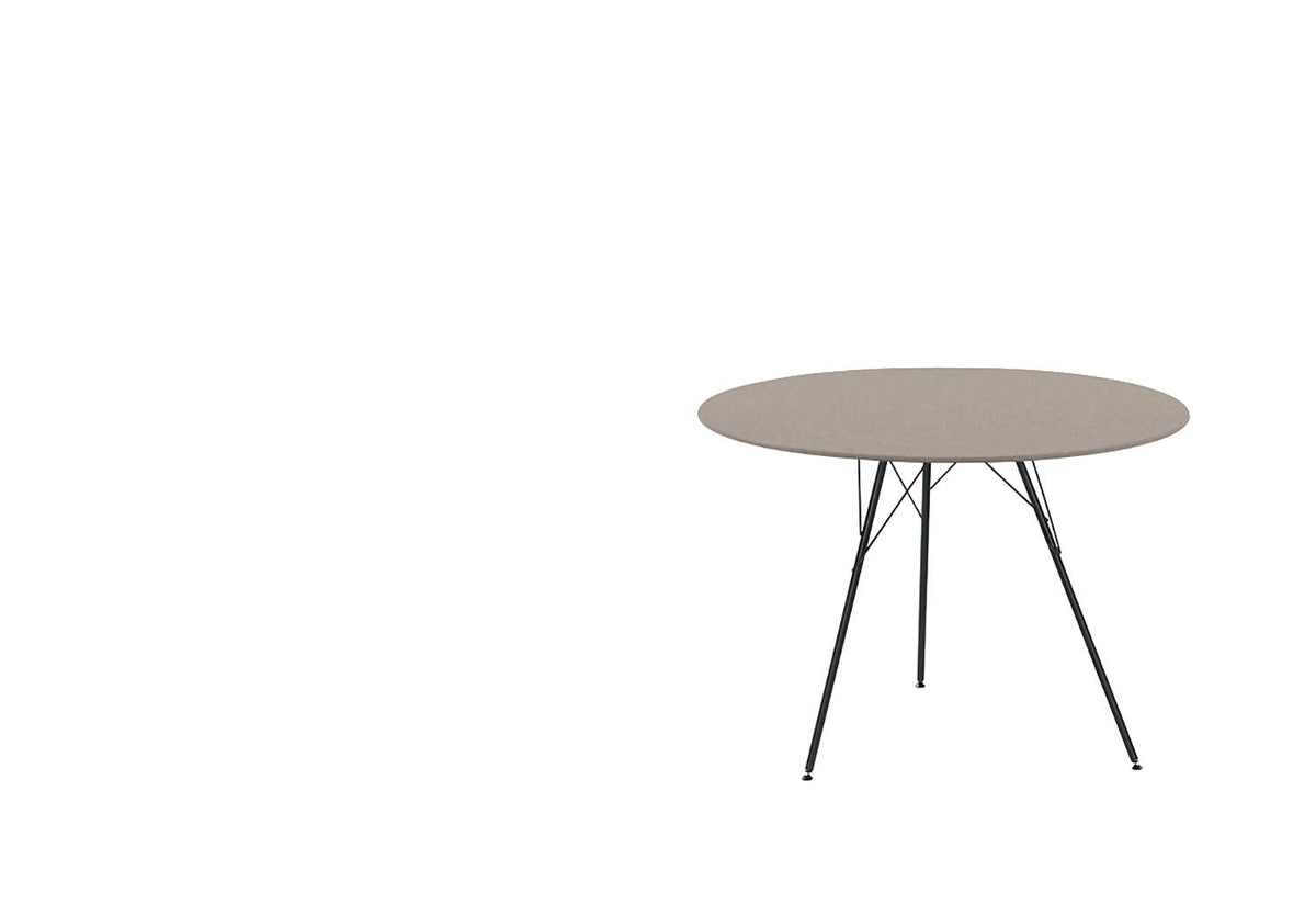 Leaf outdoor table round, Lievore altherr molina, Arper