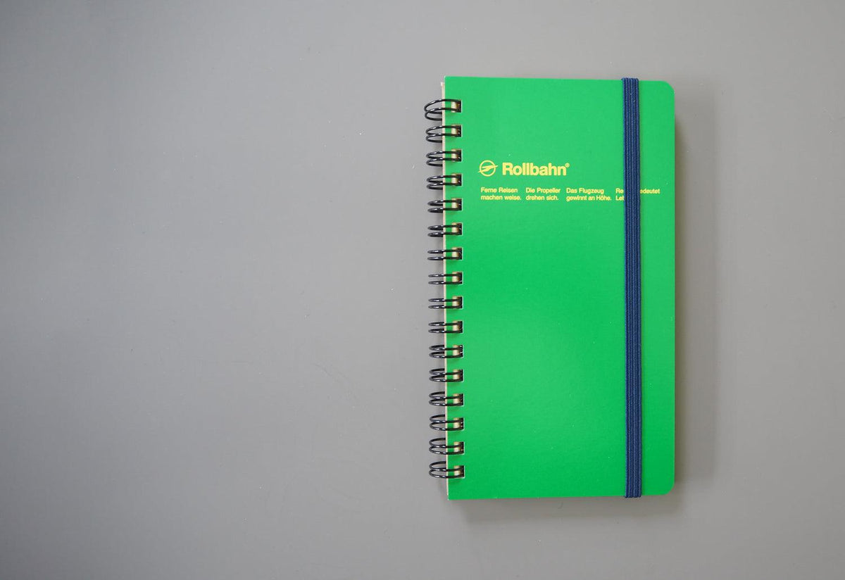 Rollbahn ring bound long notebook, Delfonics