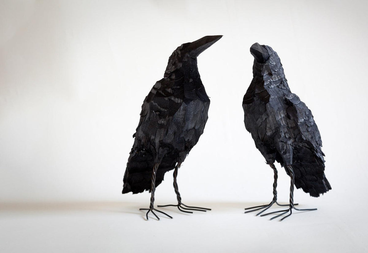 Wooden crow, 2011, Mikael nilsson, Mikael nilsson