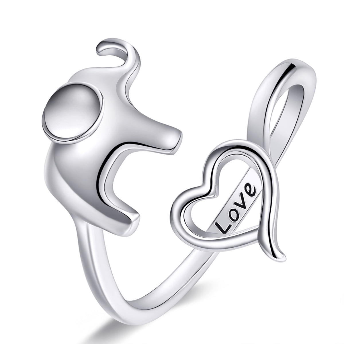 elephant heart open ring