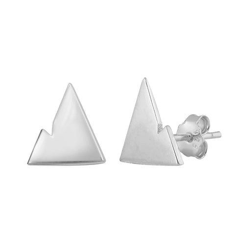 Silver  Mountains  Stud Earrings