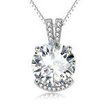 Rhinestone popular crystal necklace fashion wholesale silver jewelry