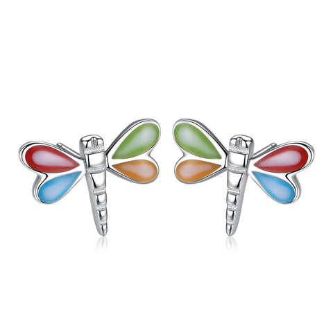 Cute Drops Oil Stud Earrings S925 Sterling Silver Earrings for girl
