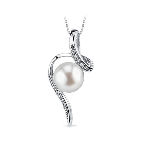 S925 Fashion Sterling Silver Creative Necklace Pearl Pendant Female Jewelry Personality Temperament Wild