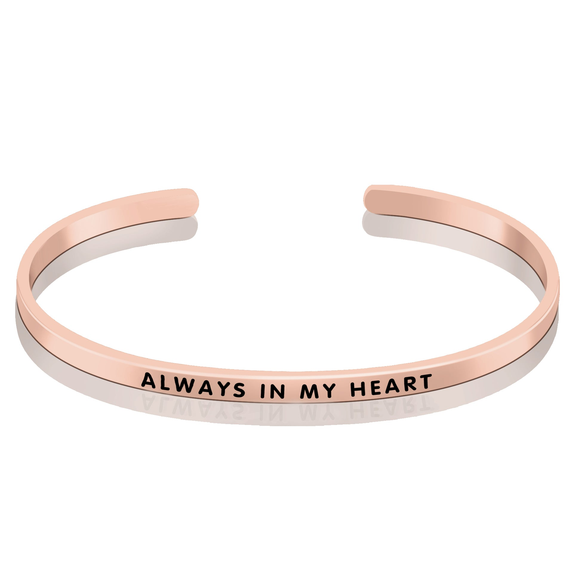 Opening Bangle ALWAYS IN MY HEART Engraved Popular Bangle