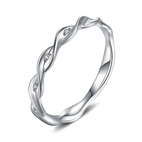 Infinity Band  Rings 925 Sterling Silver Rings
