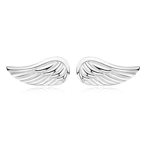 2019 Hot Wholesale Fine Jewelry Angle Wings Stud Earrings For Women