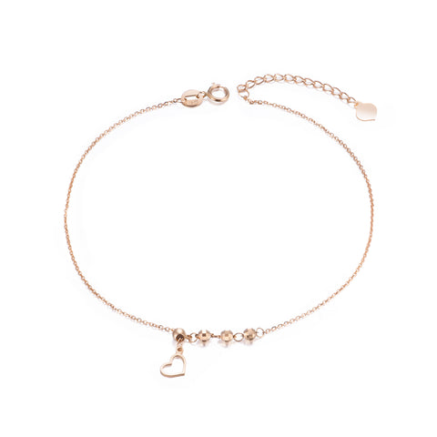 18K Gold European And American Fashion Wild Love Anklet Hot Sale Ladies Jewelry