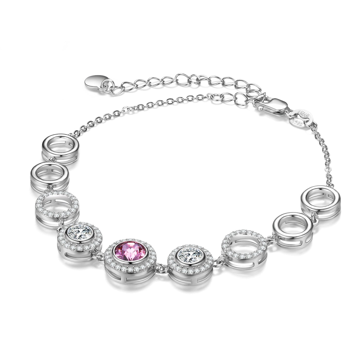 Simple Bracelet Designs For Women Gemstone Colorful Bracelet Silver