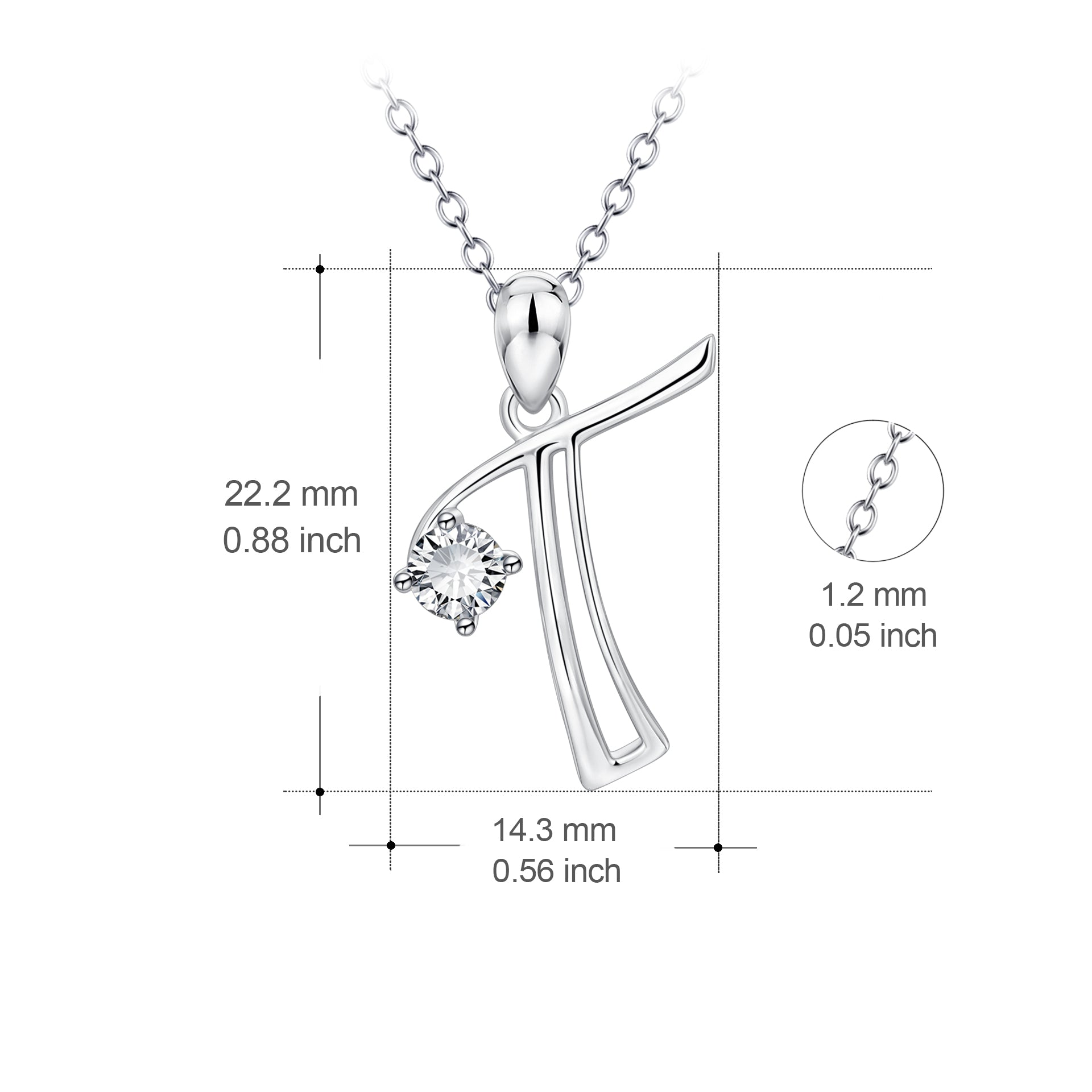 Factory Direct Sale Necklace Only Zircon Pendant Necklace 925 Sterling Silver Jewelry
