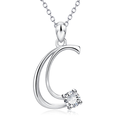 New fashion 26 Alphabet Letter Necklace For Women silver design
