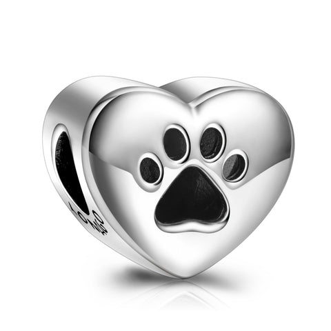 Photo pictures beads lovely pet dog puppy silver design beads charms