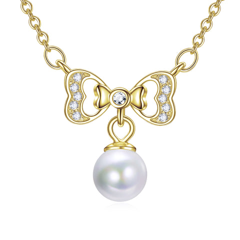 Butterfly Bow-knot Necklace For Graduation Anniversary Girls Jewelry