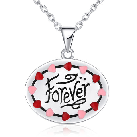 Personalized forever colorful drop love necklace pendant fashion for Valentine's Day present