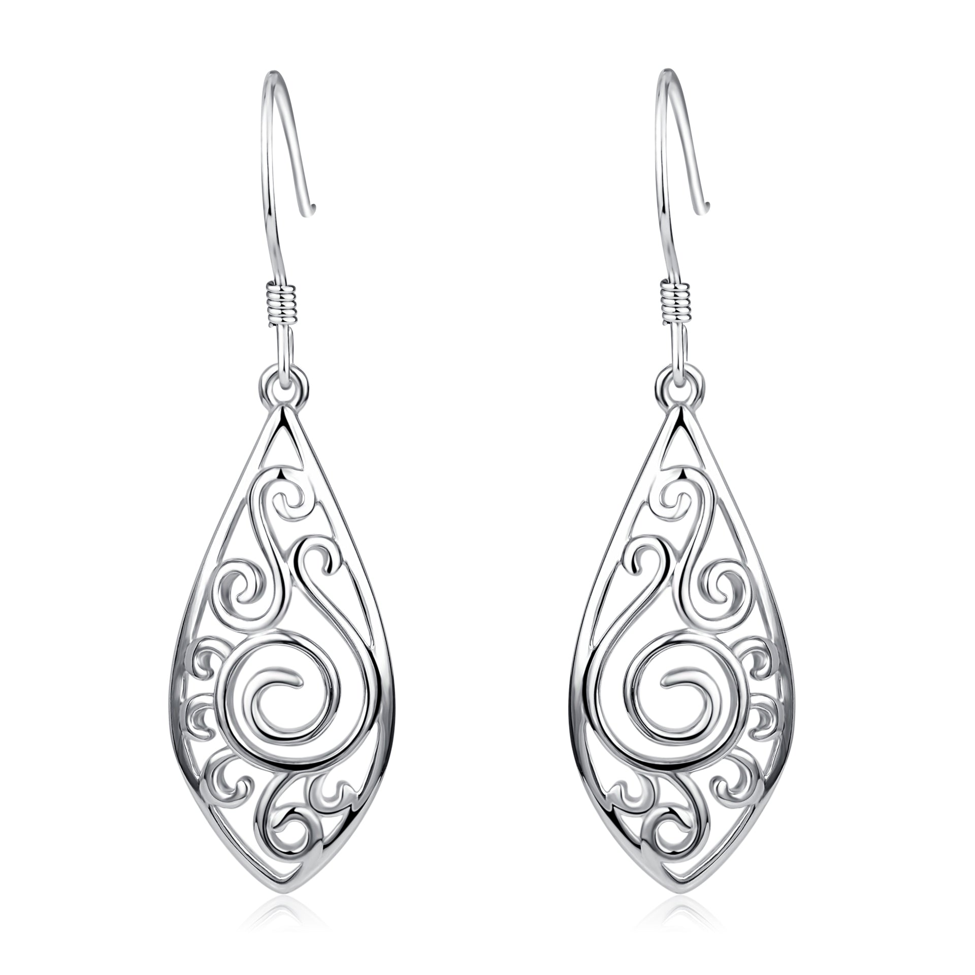 Silver Leaf Drop Earrings New Design Pendant Fashionable Earrings