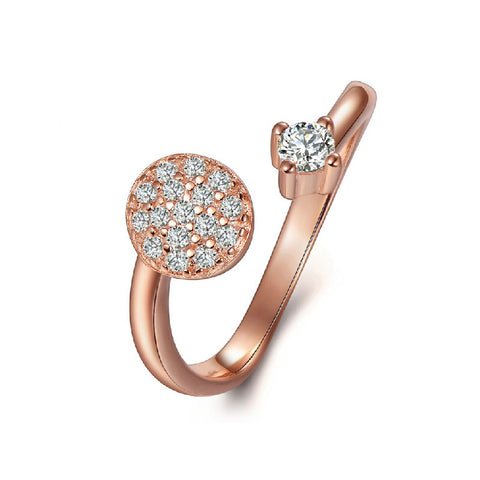starry sky diamond open ring