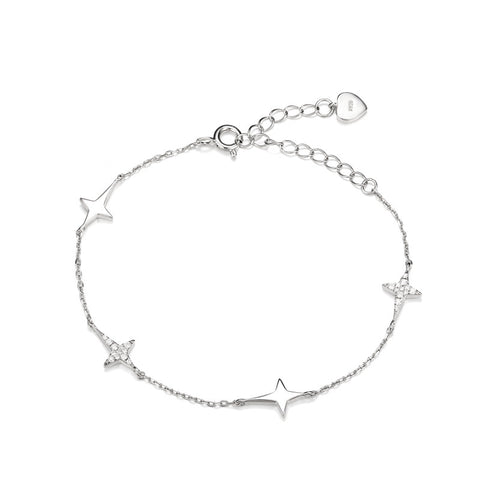 S925 Sterling Silver Pentagram Anklets Bracelet Jewelry Wholesale