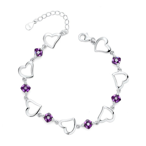 heart-shaped crystal bracelet