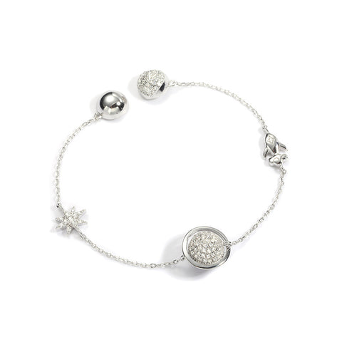 S925 Sterling Silver Starry Bracelet Korean Jewelry Wholesale