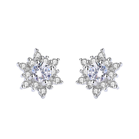 snowflake zircon earrings
