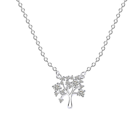 micro diamond branch necklace