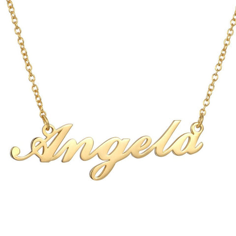 Angela - Personalized Sterling Silver Name Necklace