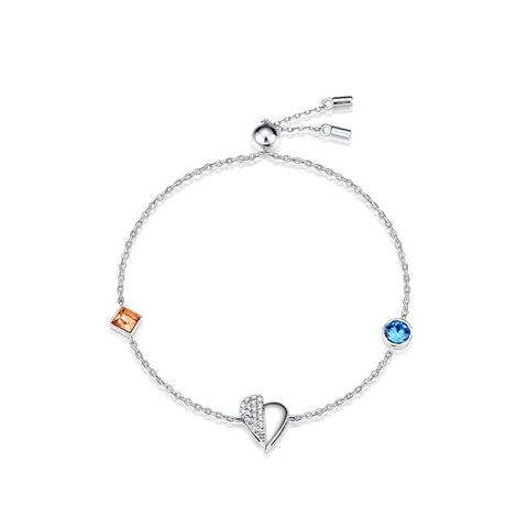 S925 sterling silver crystal bracelet wholesale small wild waist jewelry