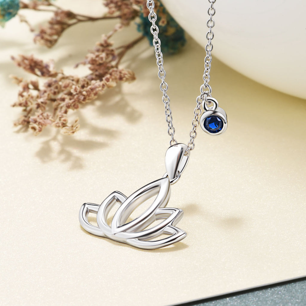 Rhodium Plating Necklace Lotus Engraved Small Minimum Order Quantity Necklace