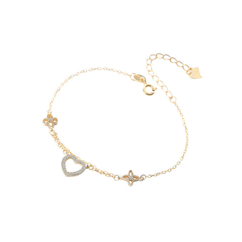 hollow love heart-shaped bracelet