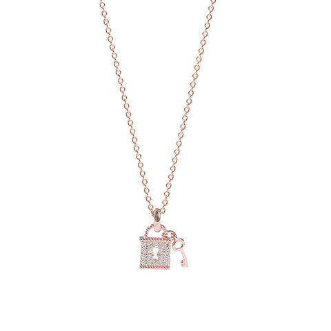 key lock pendant necklace