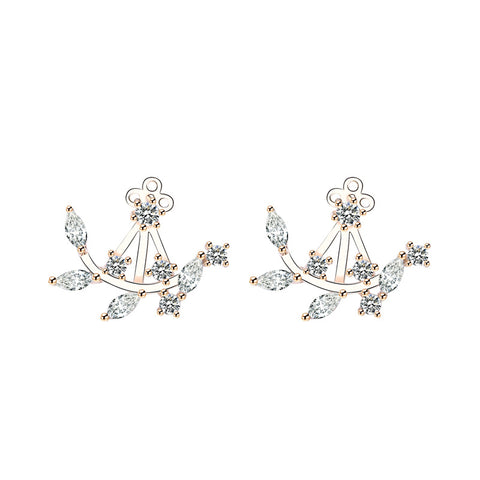 one or two wearing zircon stud earring