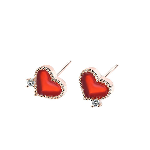 heart series earrings