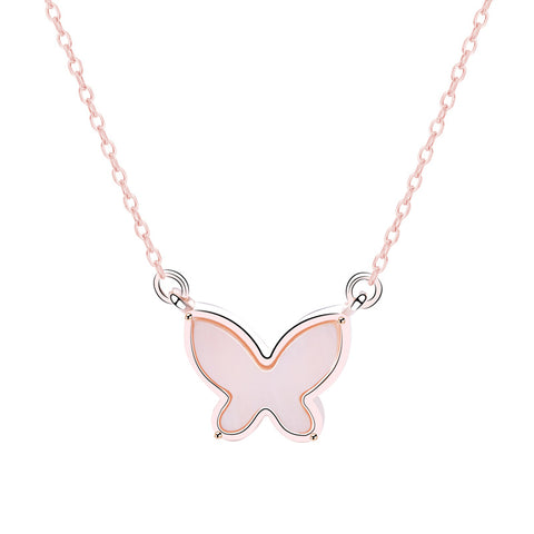 Sweet Simple Design Shell Butterfly Necklace