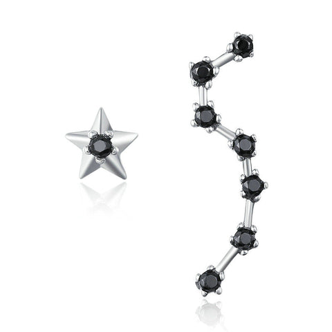 Star & Dipper Constellation Drop Earrings