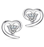 S925 Sterling Silver Fashion Love Earrings Wild Jewelry Cross-Border Exclusive