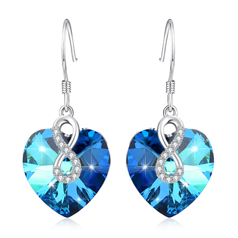 2019 Heart Drop Dangle Earrings For Women Wedding Party Jewelry Christmas Gift Hot Sale Wholesaler