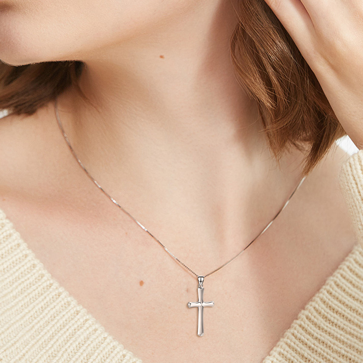 Cross Necklace For Husband Birthday Gift Jewelry Silver Cross Necklace