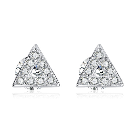 Triangle Shape Geometric Full Cubic Zirconia Cute Cheap Earrings