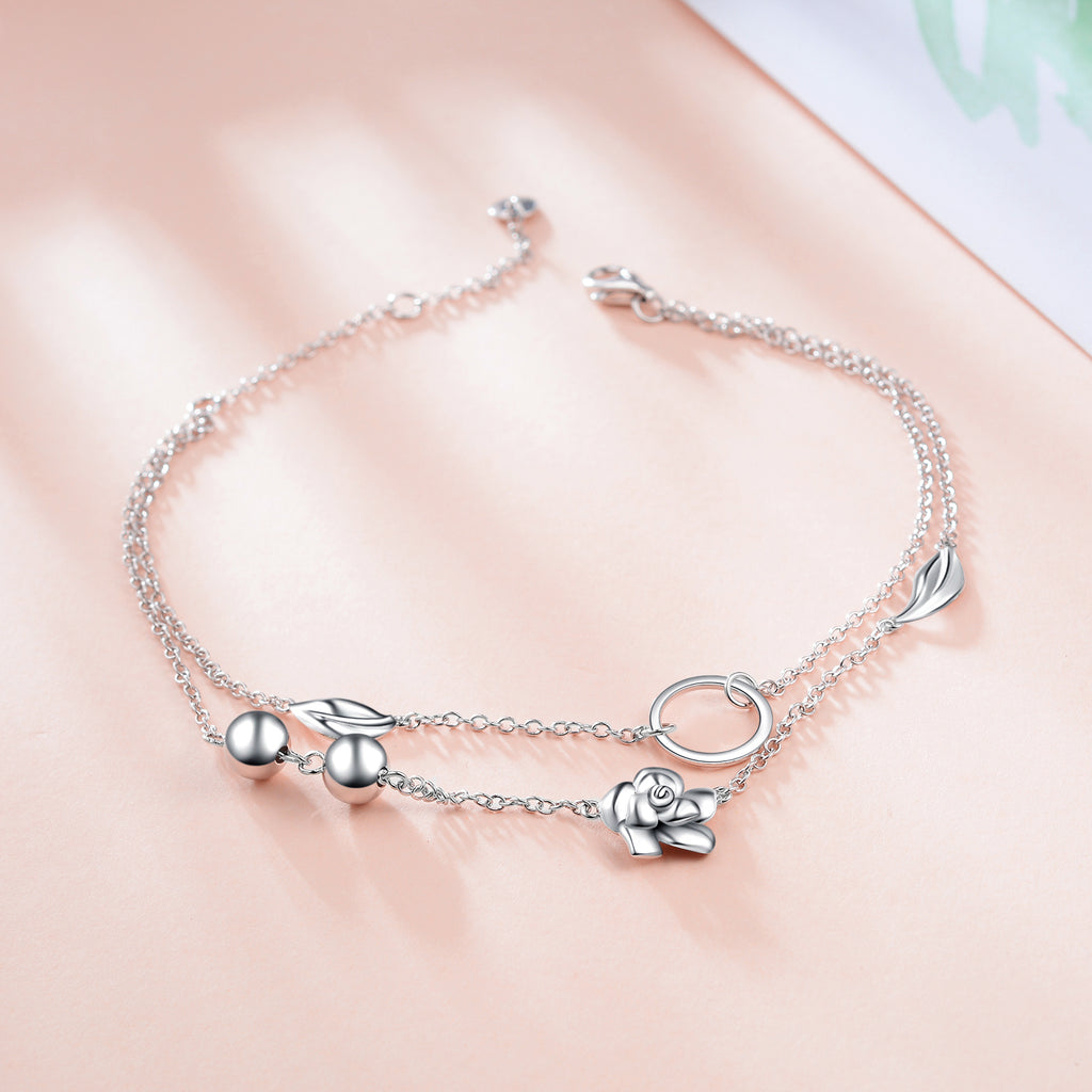 Silver Wholesale 925 Sterling Silver Charm Anklet Wholesale Handmade Jewelry Anklet