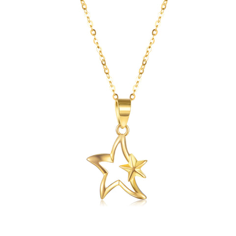 18K Gold Fashion Creative Star Necklace Europe And The United States Hot Sale