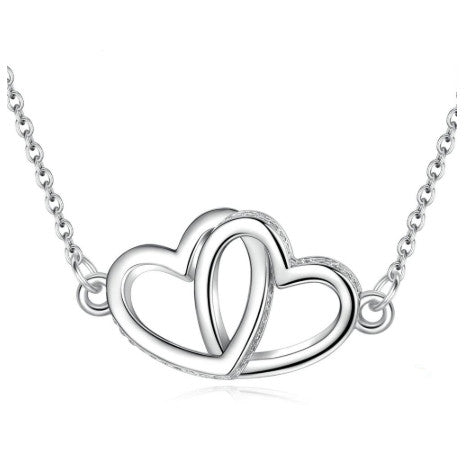 Heart to Heart Pendant Love Necklace